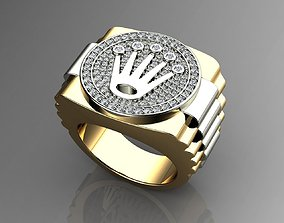 Crown Diamond Ring 3D printable model fashion-and-beauty