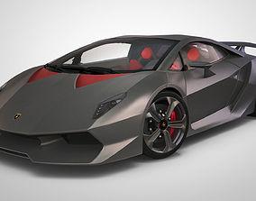 3D rigged Lamborghini Sesto