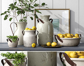 3D Pottery Barn MARLOWE CERAMIC VASE COLLECTION