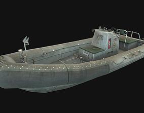 3D model VR / AR ready Rubber boat