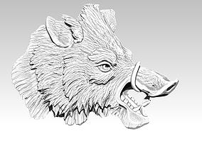 3D print model Boar relief