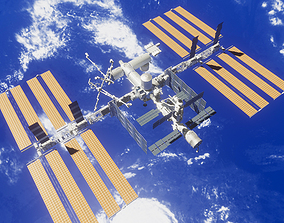 PBR Game Ready ISS Space Station 3D model
