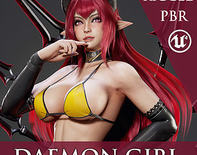 Daemon Girl - Game Ready 3D asset