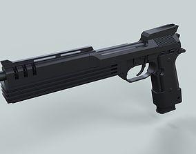 Auto-9 gun from RoboCop 3D model