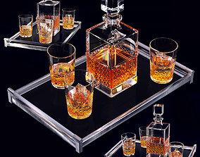 3D model Whiskey set