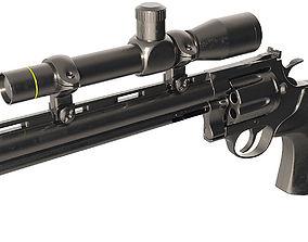 3D model Python hunter 357 Magnum