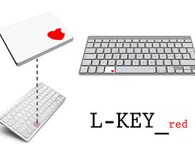 3D printable model L-key Red