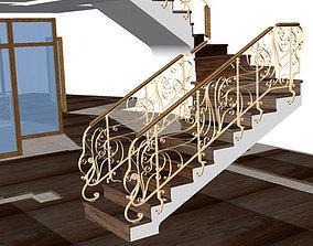 Railing art nouveau 1 3D