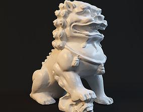 stone lion Statue sculpture 3D print model