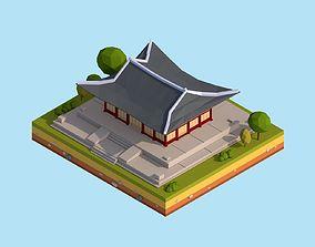 3D model Cartoon Lowpoly Deoksugung Palace Landmark