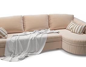3D model rigged Sofa for living room