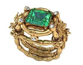 Dragon Diamond ring 3dm stl model
