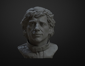 3D Printable Bust of Ayrton Senna