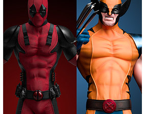 3D Mutant Collection - Wolverine and Deadpool