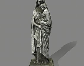 3D model game-ready architectural Woman Statue