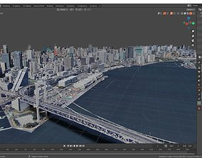 Bridge and a small part of Tokyo Town With 3D model