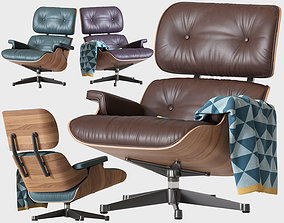 3D model leather Eames Lounge Chair