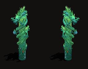 3D Sea - dragon decorative column
