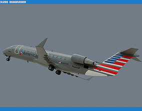 CRJ200 American Eagle 3D asset