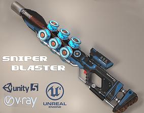 Sniper Blaster Rifle 3D asset