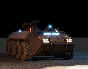 3D model Sci-Fi Armored Personnel Carrier APC Tank 2080