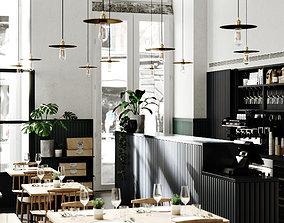 Prado Restaurant Lisbon for 3Dmax and Corona Render 3D 1