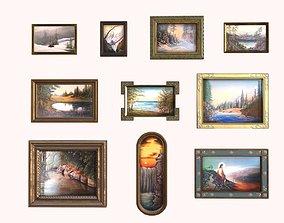 Framed Oil Painting Pack Vol1 3D model
