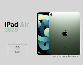 3D sreen Green 2020 iPad Air 11 inch