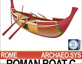 3D model Ancient Roman Boat C