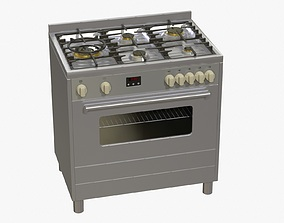 Electric Oven 3D asset