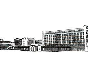 3D model Office-Teaching Building-Canteen 51