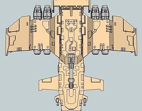 3D print model 6mm ThunderSquak Dropship