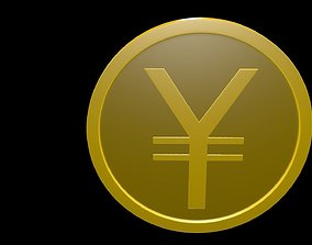 Yen symbol 3D
