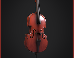 3D asset Cello PBR-Low-Poly-Gameready-Handpainted