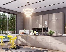 Modern Kitchen Interior room 3D model