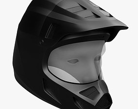 3D model racing helmet cross