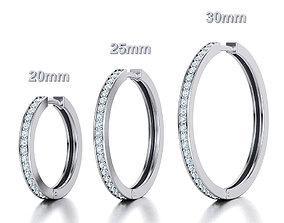 Hoop Earrings 3dmodels 20mm 25mm 30mm Collection with