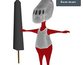 3D asset Red Knight Toon