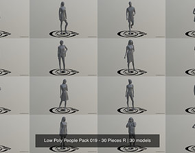 3D model Low Poly People Pack 019 - 30 Pieces R