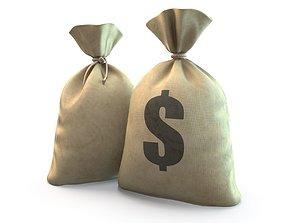 Money bag 3D asset