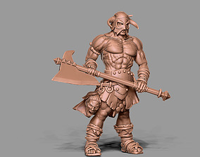 3D printable model Barbarian - Rorbane headhunter 35mm 1