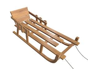 3D model Sledge wooden