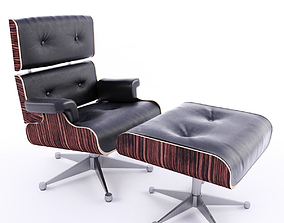 Armchair VIP with footrest 3D