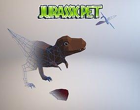 Tyrannosaurus 3D asset animated