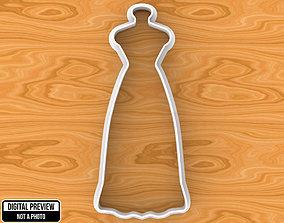 3D print model family Wedding Dress Cookie Cutter