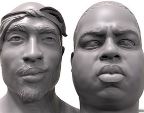 3D Rapper portrait pack Biggie 2Pac celebrity3dmodel