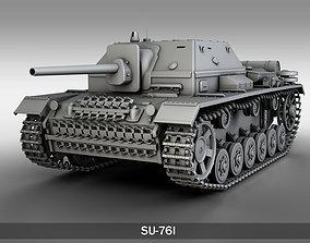 SU-76i Soviet Assault gun 3D