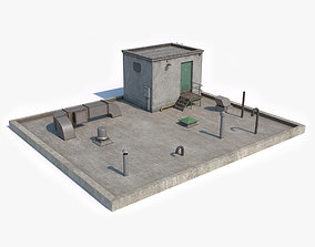 Rooftop Low Poly 3D model VR / AR ready