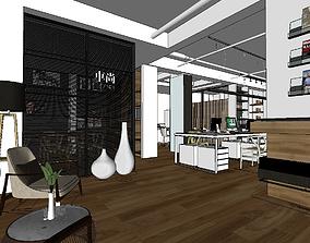 Work office design 3D model