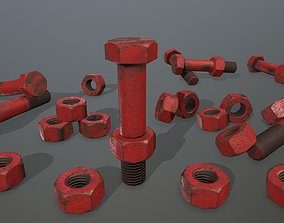 3D model low-poly Bolts